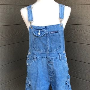 London & London Overall Jean Shorts